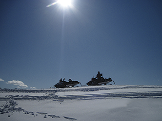 Snowmobiling, Starks area